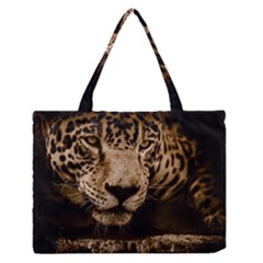 Jaguar Water Stalking Eyes Zipper Medium Tote Bag