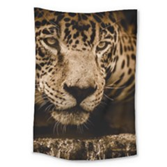 Jaguar Water Stalking Eyes Large Tapestry