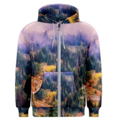 Landscape Fog Mist Haze Forest Men s Zipper Hoodie