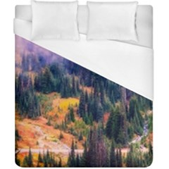 Landscape Fog Mist Haze Forest Duvet Cover (california King Size)
