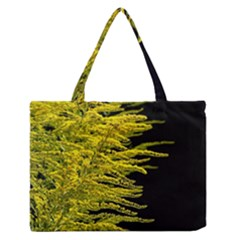Golden Rod Gold Diamond Zipper Medium Tote Bag