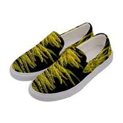 Golden Rod Gold Diamond Women s Canvas Slip Ons by BangZart