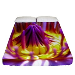 Flower Blossom Bloom Nature Fitted Sheet (queen Size)