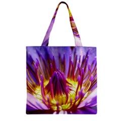 Flower Blossom Bloom Nature Zipper Grocery Tote Bag by BangZart