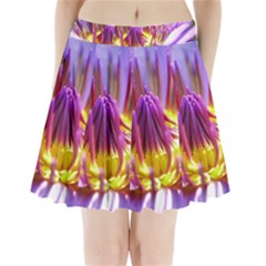 Flower Blossom Bloom Nature Pleated Mini Skirt