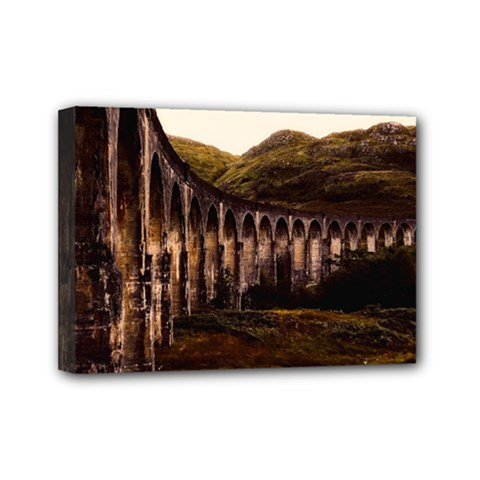 Viaduct Structure Landmark Historic Mini Canvas 7  X 5  by BangZart