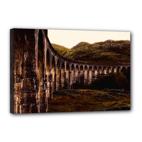 Viaduct Structure Landmark Historic Canvas 18  X 12