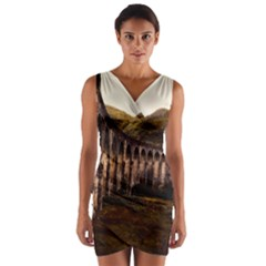 Viaduct Structure Landmark Historic Wrap Front Bodycon Dress