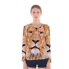 Africa African Animal Cat Close Up Women s Long Sleeve Tee