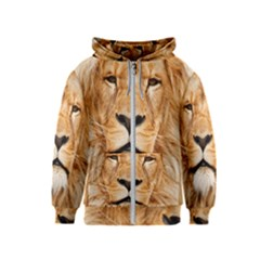 Africa African Animal Cat Close Up Kids  Zipper Hoodie