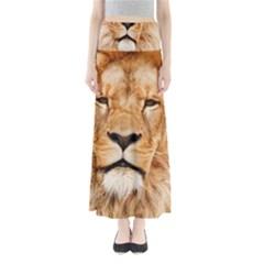 Africa African Animal Cat Close Up Full Length Maxi Skirt