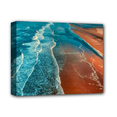 Sea Ocean Coastline Coast Sky Deluxe Canvas 14  X 11  by BangZart