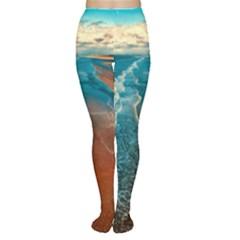 Sea Ocean Coastline Coast Sky Women s Tights