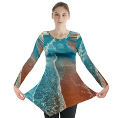 Sea Ocean Coastline Coast Sky Long Sleeve Tunic