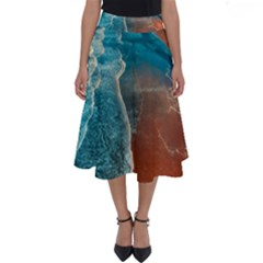 Sea Ocean Coastline Coast Sky Perfect Length Midi Skirt