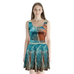 Sea Ocean Coastline Coast Sky Split Back Mini Dress