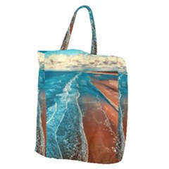 Sea Ocean Coastline Coast Sky Giant Grocery Zipper Tote
