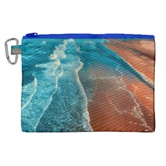 Sea Ocean Coastline Coast Sky Canvas Cosmetic Bag (xl)