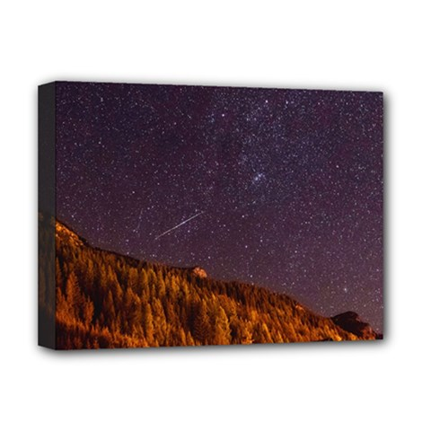 Italy Cabin Stars Milky Way Night Deluxe Canvas 16  X 12   by BangZart