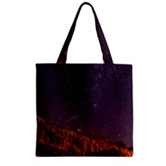 Italy Cabin Stars Milky Way Night Zipper Grocery Tote Bag
