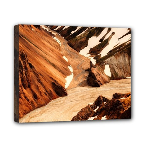 Iceland Mountains Snow Ravine Canvas 10  X 8  by BangZart