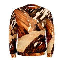 Iceland Mountains Snow Ravine Men s Sweatshirt