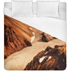 Iceland Mountains Snow Ravine Duvet Cover (king Size)