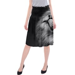 Feline Lion Tawny African Zoo Midi Beach Skirt