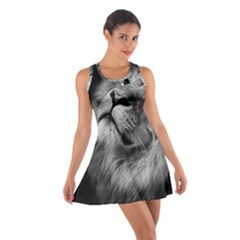 Feline Lion Tawny African Zoo Cotton Racerback Dress