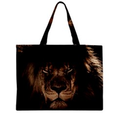African Lion Mane Close Eyes Medium Tote Bag