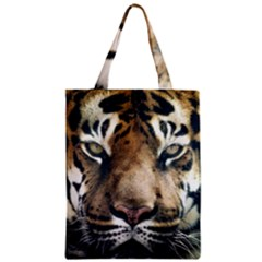 Tiger Bengal Stripes Eyes Close Zipper Classic Tote Bag