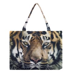 Tiger Bengal Stripes Eyes Close Medium Tote Bag