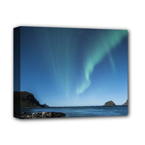 Aurora Borealis Lofoten Norway Deluxe Canvas 14  X 11  by BangZart