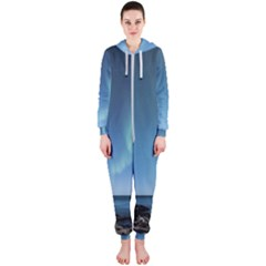 Aurora Borealis Lofoten Norway Hooded Jumpsuit (ladies)