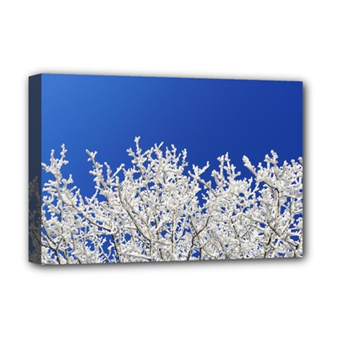Crown Aesthetic Branches Hoarfrost Deluxe Canvas 18  X 12