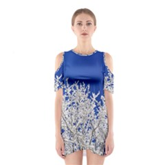 Crown Aesthetic Branches Hoarfrost Shoulder Cutout One Piece