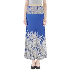 Crown Aesthetic Branches Hoarfrost Full Length Maxi Skirt