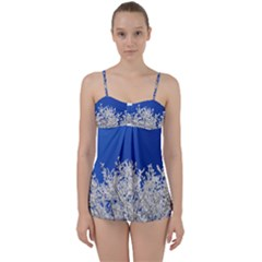 Crown Aesthetic Branches Hoarfrost Babydoll Tankini Set