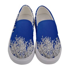 Crown Aesthetic Branches Hoarfrost Women s Canvas Slip Ons