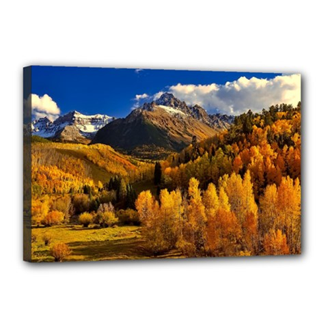 Colorado Fall Autumn Colorful Canvas 18  X 12  by BangZart