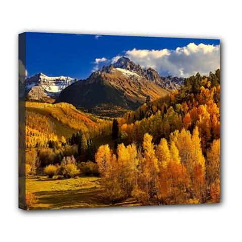 Colorado Fall Autumn Colorful Deluxe Canvas 24  X 20   by BangZart