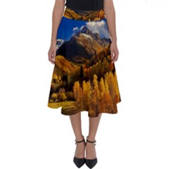 Colorado Fall Autumn Colorful Perfect Length Midi Skirt