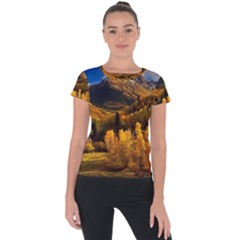 Colorado Fall Autumn Colorful Short Sleeve Sports Top