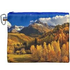 Colorado Fall Autumn Colorful Canvas Cosmetic Bag (xxxl) by BangZart