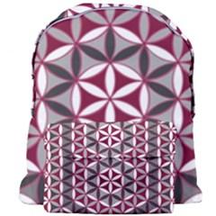 Flower Of Life Pattern Red Grey 01 Giant Full Print Backpack