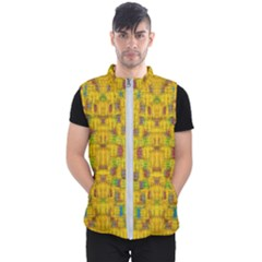 Rainbow Stars In The Golden Skyscape Men s Puffer Vest by pepitasart