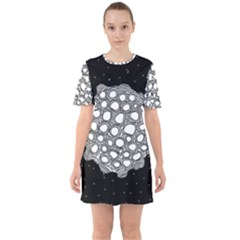 Strange Planet Sixties Short Sleeve Mini Dress by jumpercat