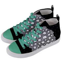 Strange Planet Women s Mid Top Canvas Sneakers by jumpercat