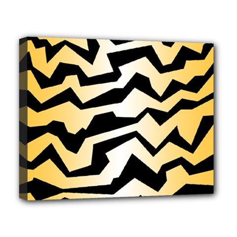 Polynoise Tiger Deluxe Canvas 20  X 16