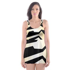 Polynoise Tiger Skater Dress Swimsuit by jumpercat